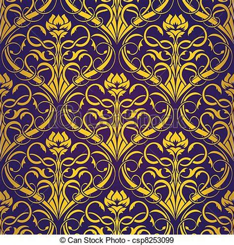 royal background stock illustration image of eps vectors of gold seamless wallpaper pattern gold