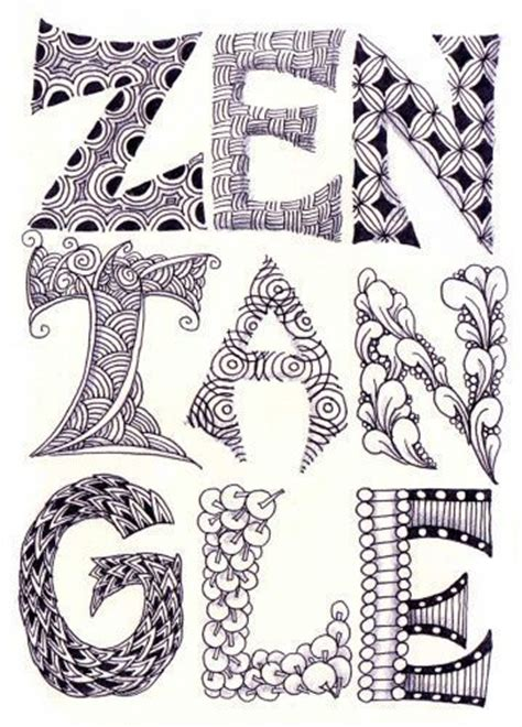 google images zentangle zentangle lettering google search zentangles doodles