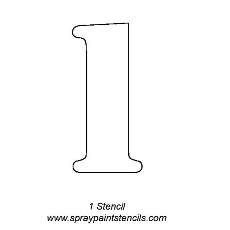 printable number sign stencils image gallery number stencil 1