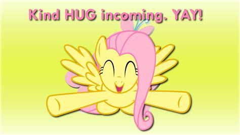 digital kindness is thoughtful hug wallpaper fluttershy hug incoming by barrfind on