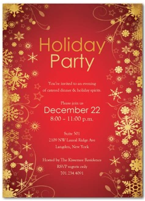printable holiday cocktails party invitation template