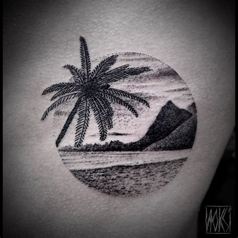 island tattoos pacific island dotwork style