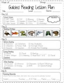 guided reading lesson plan template kindergarten 1000 ideas about lesson plan templates on