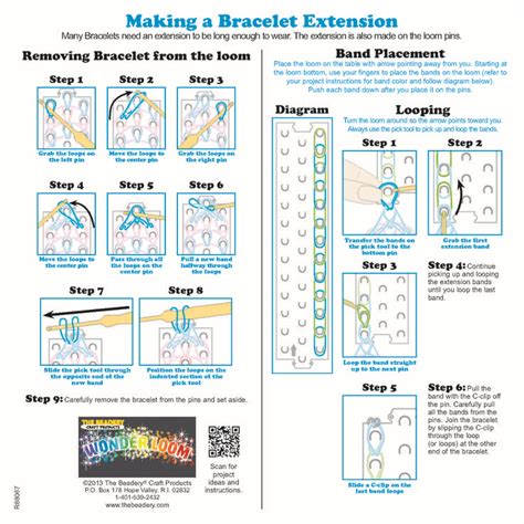 template for loom bands instructions - Google Search ... Rainbow Loom Instruction Manual Patterns