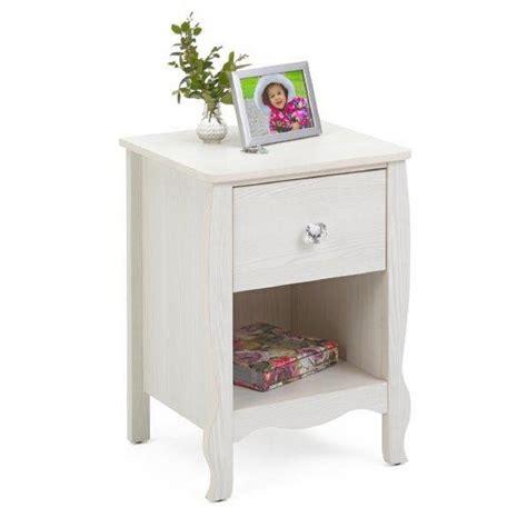white one drawer nightstand sauder harbor view 1 drawer salt oak nightstand 415004