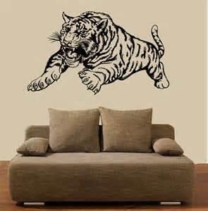 wandtatoos wohnzimmer wandtattoo wohnzimmer tiere quot tiger angreifend quot ebay