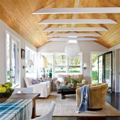 Living Room With Vaulted Ceiling Vaulted Ceilings Living Room Creative Coastal Room Makeovers Coastal Living