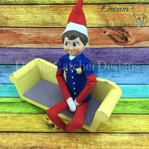 design doll items ith small doll elf police shirt embroidery design 12