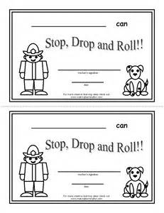 stop drop and roll coloring pages coloring pages
