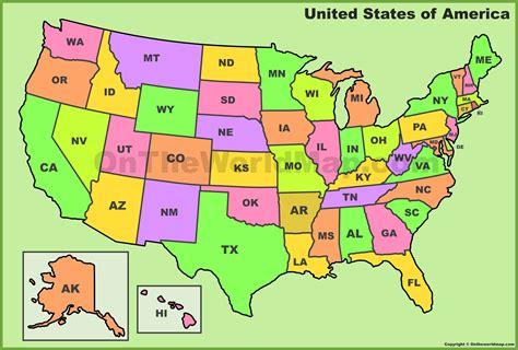 map usa labeled states map usa states abbreviations maps of usa