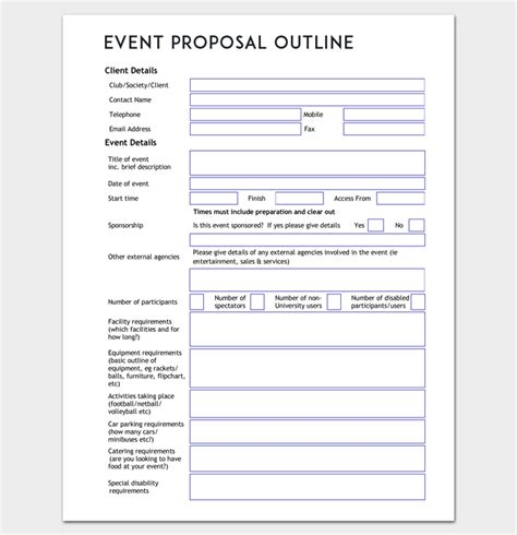 event proposal outline template word doc outline