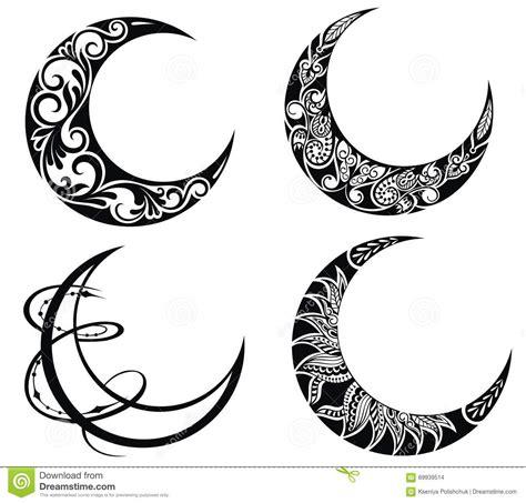 imagenes de simbolos hermosos ramadan symbols of moons stock vector image of