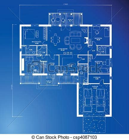 Floor Plans For Free by Vectors Of Architectural Blueprint Background Vector