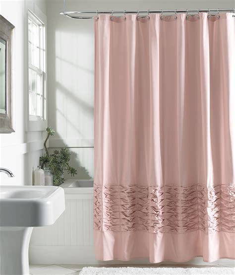 Pink Shower Curtains Fabric Attention Fabric Shower Curtain Blush Home Bed Bath Bath Bathroom Accessories