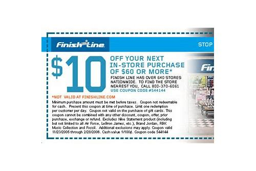 printable finish line coupons in store