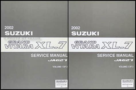 service manuals schematics 2002 suzuki xl 7 head up display 2002 suzuki grand vitara xl 7 repair shop manual set original