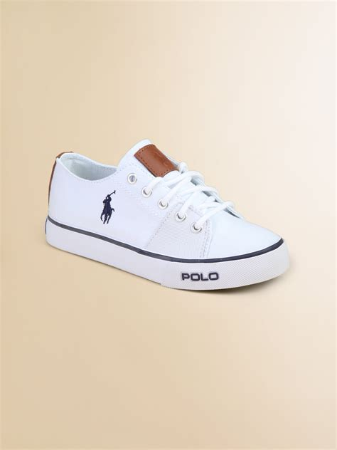 ralph white sneakers ralph cantor laceup canvas sneakers in white
