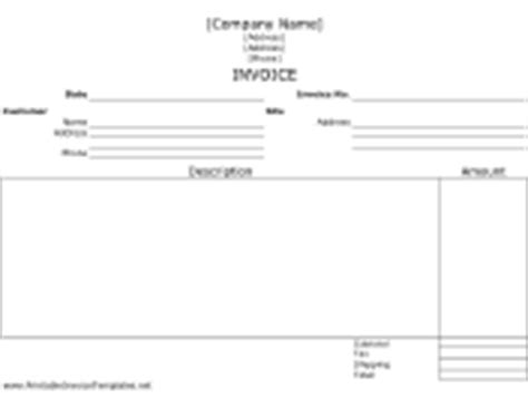Unlined Invoices Concrete Invoice Template