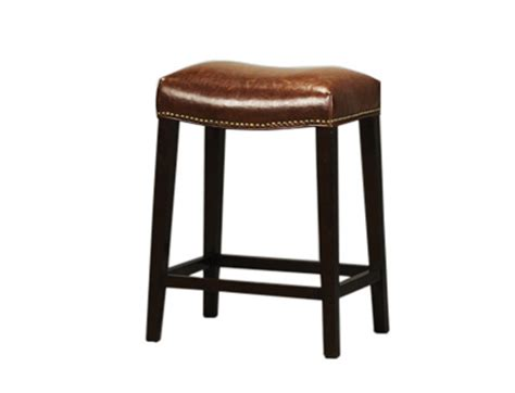 saddle leather bar stool seating