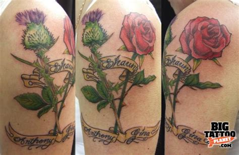 rose and thistle tattoo designs steve jarvis big planet