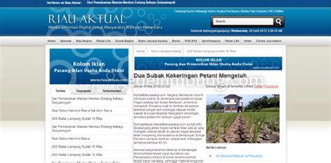 buat web sederhana html desain web tutorial contoh desain web portal berita