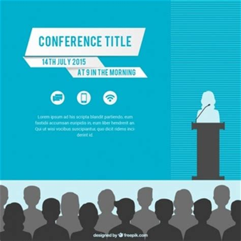 cme invitation card template conference banner template vector free