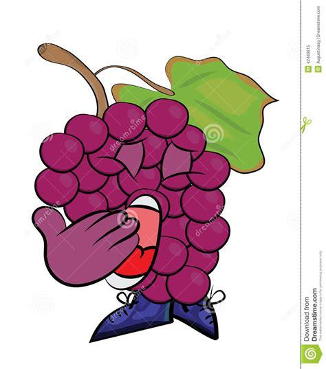 imagenes de uvas en dibujos animados personaje de dibujos animados de las uvas stock de