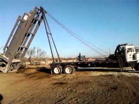 oil field winch truck youtube