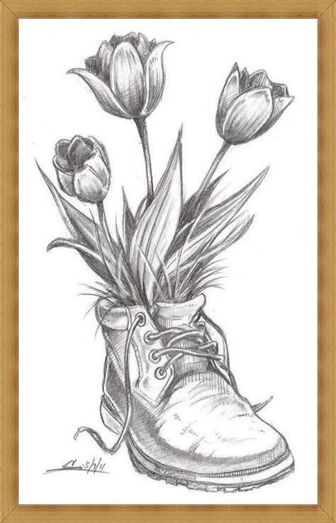 gambar sketsa bunga indah mulai  mawar melati