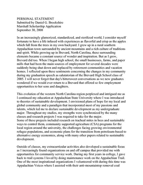 Personal Statement School Sle Essays sle of personal essay for scholarship 28 images