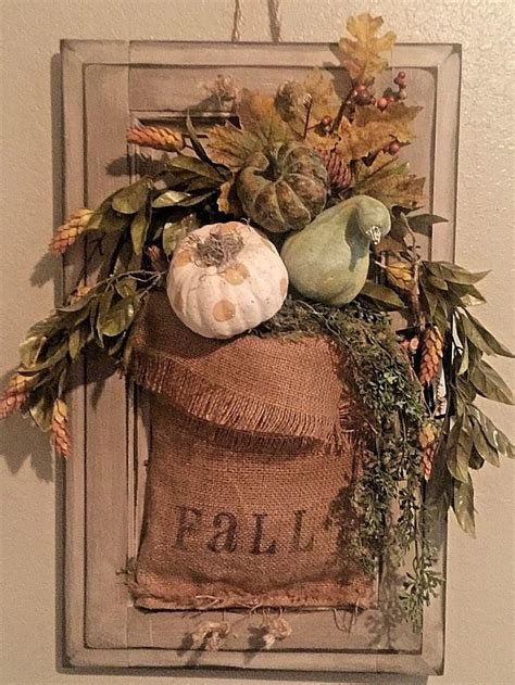 burlap fall decorations 2016 front door fall hanging arrangement vintage