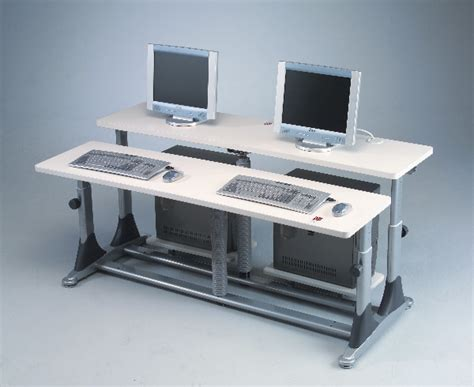 multi computer desk workstation classroom computer desk