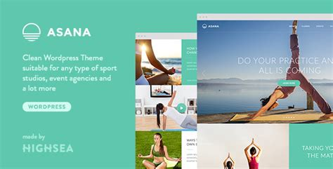 asana sport and yoga wordpress theme by highsea