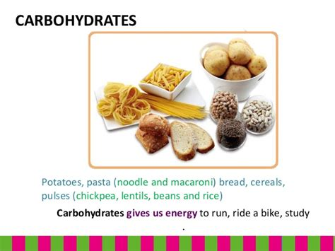 carbohydrates give energy the nutrients in the food