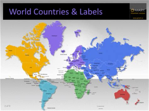 world map with country names for powerpoint vmaps vector maps for powerpoint
