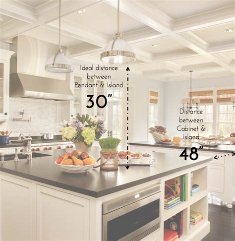 kitchen island light height kitchen 101 must know standard kitchen measurements