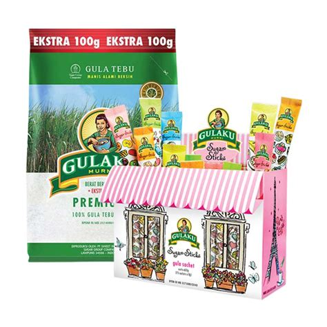 Gulaku Premium Gula Pasir 1 1 Kg jual gulaku paket 1 gulaku premium gula pasir 1 1 kg dan