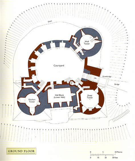 Second Floor Plans castell coch
