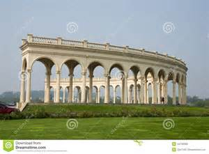 Building A Flower Bed Building Even The Row Of Arches Baroque Style Editorial