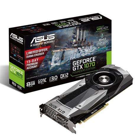 Vga P104 Asus Gtx1070 8g Geforce Gtx 1070 Founders Edition