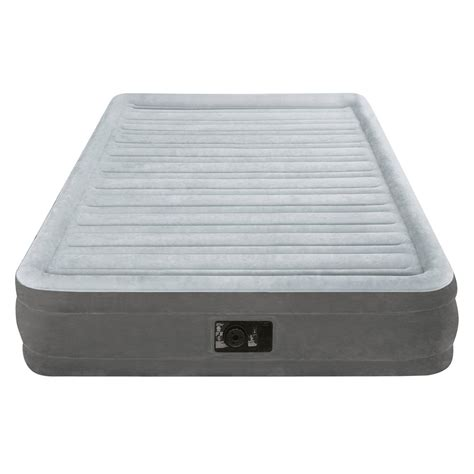 intex airbed size built in electric air mattress sleep bed ebay