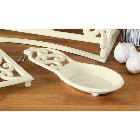 Kitchen Spoon Holder by Cast Iron Trivet Mug Tree Kitchen Roll Holder Spoon