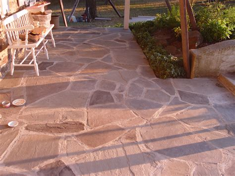 flagstone patio base kinds of stone patio designs cement patio