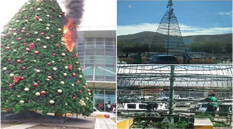 vision city christmas tree catches fire loop png