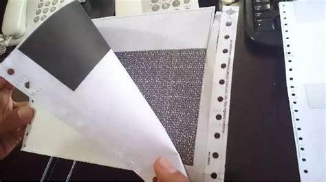 Kertas Continuous Form Ncr 4 Rangkap Ukuran Kwarto A4 Ncr Warna jual kertas slip gaji confidential karbon rangkap 3 ply
