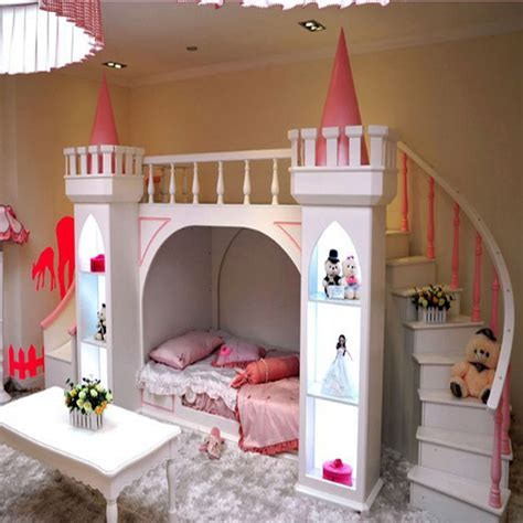 Princess Bunk Bed Castle Continental Pine Wood Bunk Beds Children Bed Castle Princess Castle Bed Room Ladder Cabinet Jpg