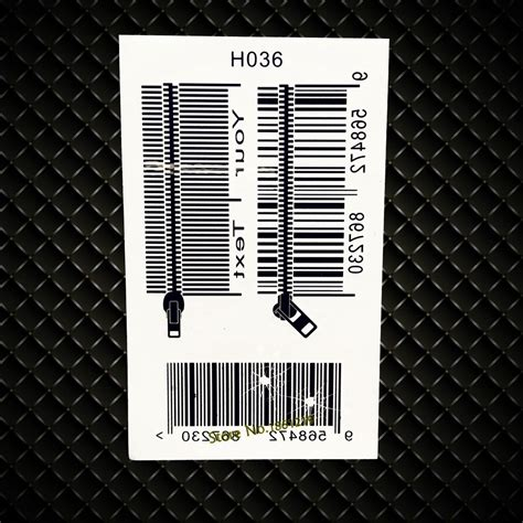barcode tattoo transfer popular zipper design tattoo buy cheap zipper design