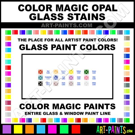 color magic opal stains glass and window paint colors stains inks stained glass color magic