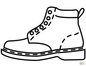 leather boot coloring free printable coloring pages