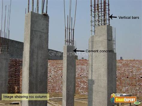column layout work column and frame structure building column construction